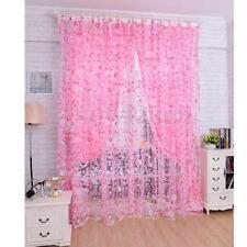 Rideaux et cantonnières rose pour la maison, 100 cm - 150 cm