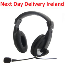 3.5mm Headphone Headset with Microphone for Computer PC Laptop Office Mic Skype