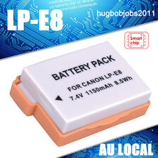 Full Decoded Battery FOR Canon LP-E8 LPE8 LC-E8 LC-E8C LC-E8 EOS 550D 650D