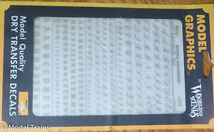 Woodland Scenics #757 Gold - Dry Transfer Alphabet & Numbers  Script/Old English