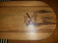 """Vintage Antique Smokers Quality Brand Wood Paddle  47.5"""" Long Decor"""