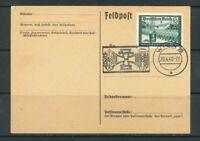 Deutsches Reich Mi-Nr. 705 Einzelfrankatur auf Feldpostkarte
