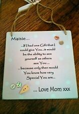 Handmade Wooden Square Decorative Plaques & Signs