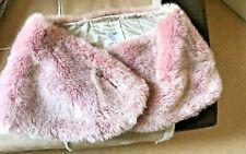 KAREN MILLEN Faux Fur Brooch Detail Shrug Stole Size 2 UK 8-10 VGC