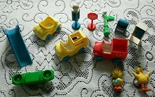 Vintage Sesame Street Little People Phone Mail Trash Truck Toys Jim Henson Illco