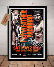 FLOYD MAYWEATHER VS MANNY PACQUIAO MAY 2015 SIGNED BOXING PHOTO PRINT - 1