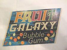 Gumball Machine - Display Card Fruit Galaxy Bubblegum - vintage