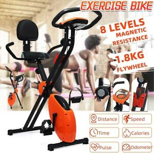 Foldable Exercise Bike Cardio Indoor Cycling LED Display Bicycle Home Machine
