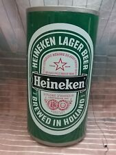 """Large Plastic Heineken Can Promotional Advertising Piece 1970's 19"""" Tall"""