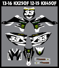 Kawasaki KX250F 2013 - 2016 FULL Custom MX Graphics Kit  MADE IN THE USA