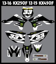 Kawasaki KX450F 2012 - 2015 FULL Custom MX Graphics Kit  MADE IN THE USA
