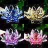 Colorful Rainbow Color Crystal Sparkle Crystal Lotus Flower Ornaments Home Decor