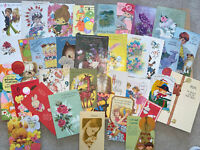 Vintage Birthday Greeting Cards Lot- 1940s And Up. 35 Cards- Ephemera- Used-(2)