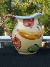 Droll Designs Fruit Motif Pitcher Bananas Lemons Pears ..... 64 Ounces EXC