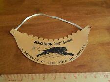 "Marathon ""Cat"" Gasoline ~ The Ohio Oil Company ~ Gas Station Promo Vtg VISOR HAT"