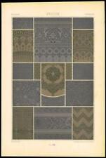 1885 ANTIQUE PRINT-l'ornement polychrome Persian designs arts décoratifs (14)