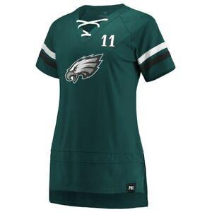 Carson Wentz Philadelphia Eagles Fanatics Branded Women's Lace Up T-Shirt -NWT