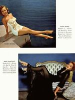 Pinup Lithograph Terry Moore Mari Blanchard Mona Knox Luez 1953 VTG Promo Photo