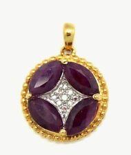 Anhänger  Rubine & Diamanten  925 Silber Silber