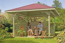 Gartenlaube / 4eck Pavillon ediGarden Holz kdi 390x390cm