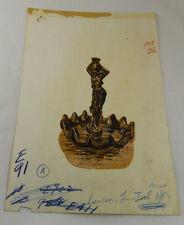 Vtg Mid Century Original Art LAWSON LIMITED Advertisement Illustration Drawing