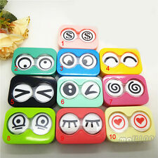1pc Cute Big Eyes Candy Color Contact Lens Case Container Box Eye Care Vision