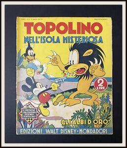 ⭐ Albi d'Oro Anteguerra Disney # 5 - TOPOLINO nell' ISOLA 1937 - DISNEYANA.IT ⭐