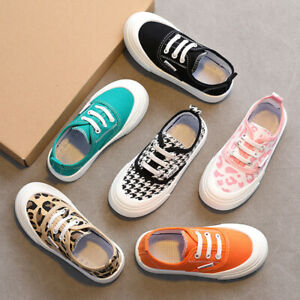 CHILDRENS BOYS GIRLS CANVAS CASUAL SHOES PUMPS TRAINERS LACE UP PLIMSOLLS SIZE
