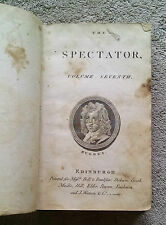 The Spectator Volume Seventh Sep-Dec 1712 Edinburgh newspaper Richard Steele