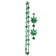 Weed Beads Set of 3 Mardi Gras Party Favor