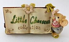 Rare Little Cheesers Mice Collection Banner Sign 1991 Ganz