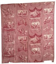 19th Century French Neoclassical Cotton Printed Scenic Toile Fabric