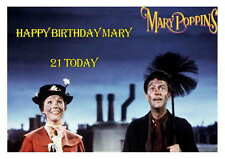 LARGE A5 GLOSSY PERSONALISED MARY POPPINS BIRTHDAY CARD