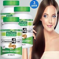 VITAMINS 4 FOR HAIR BEAUTIFUL HEALTHY STRONG SOFT THICK HAIR SUPPORT 180 TABLETS