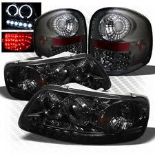For 97-03 F150 Flareside 1pc Smoked Pro Headlights + Philips-LED Tail Lights
