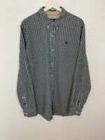Men's Timberland Earth Keepers Long Sleeve Checked Shirt Black White UK Size XL