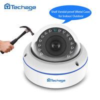 Techage 1080P 48V POE 2.0MP IP Camera Outdoor HD Home Security CCTV Surveillance