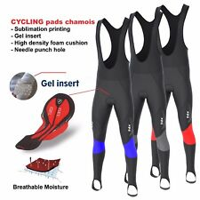 FDX Mens Thermodream Cycling Bib Tights Winter Thermal Gel Padded Cycling Tights