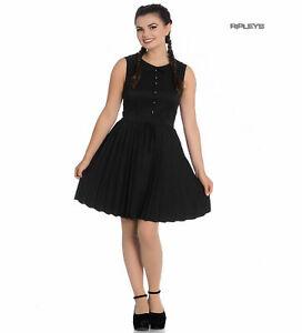 Hell Bunny 40s 50s Mini Skater Tea Dress JOSEPHINE Black XS UK 8