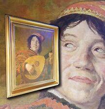 il suonatore di liuto. Bello,antico Dipinto a olio dopo FRANS COLLO 1580