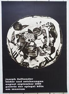 Original Ausstellungsplakat Poster JOSEPH FAßBENDER 1965 Galerie Spiegel Köln