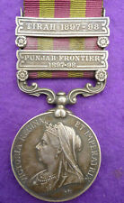 INDIA MEDAL WITH TWO CLASPS TO THE OXFORDSHIRE LIGHT INF.