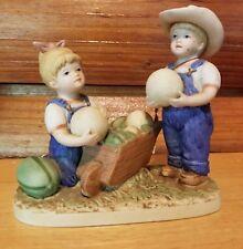 Denim Days Home Interiors Figurine The Melon Patch 1985 Homco 1512 Watermelon