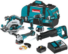 Makita Power Tool Combo Kit 6-Piece LED Light 18 Volt Brushless Keyless Chuck