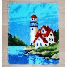 Vervaco Latch Hook Rug Kit Lighthouse Stamped DIY