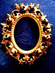 Antique NB & IW National Brass & Iron Works Ornate Oval Cast Iron Picture Frame