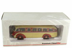 PREMIUM ClassiXXs 1/43 AUTOCAR MERCEDES BENZ LO 3500 STREAMLINER ROUGE/IVOIRE