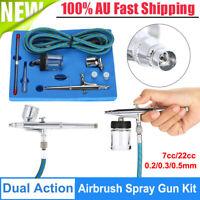 Dual Action Air Brush 0.2/0.3/0.5mm Airbrush Hose Tattoo Paint Spray Gun Set Kit