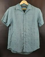 Mens Perry Ellis Short Sleeve Button Up shirt | Size Large