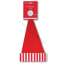Unisex Striped Christmas Hat Santa Claus Fancy Dress Costume Partyl Festive